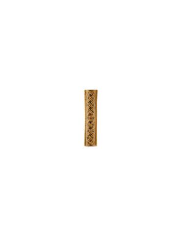 Элемент изразцовой плитки, поясок «Русь» бежевый