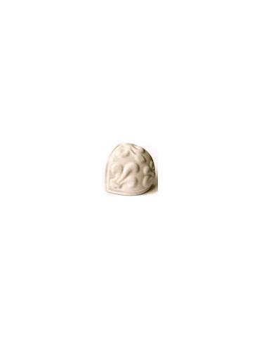 Элемент изразцовой плитки, чашка «Виньетки» слоновая кость