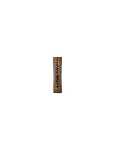 Элемент изразцовой плитки, поясок «Русь» коричневый