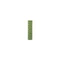 Элемент изразцовой плитки, полоска «Русь» зеленый