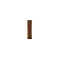 Элемент изразцовой плитки, полоска «Виньетки» коричневый