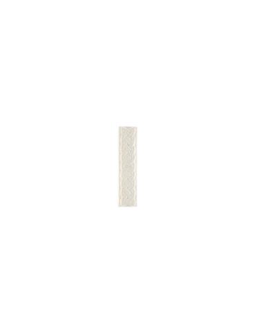 Элемент изразцовой плитки, полоска «Русь» белый