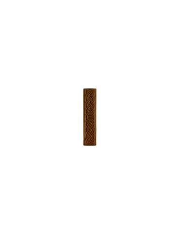 Элемент изразцовой плитки, полоска «Русь» коричневый