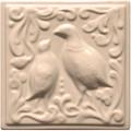 Изразец «Охота на птиц» слоновая кость №4