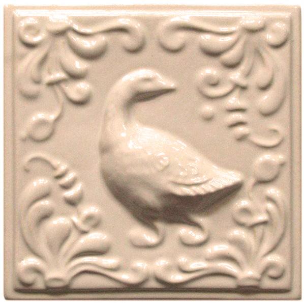 Изразец «Охота на птиц» слоновая кость №5