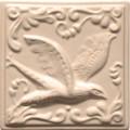 Изразец «Охота на птиц» слоновая кость №7