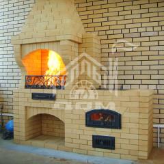 Барбекю с плитой и мангалом