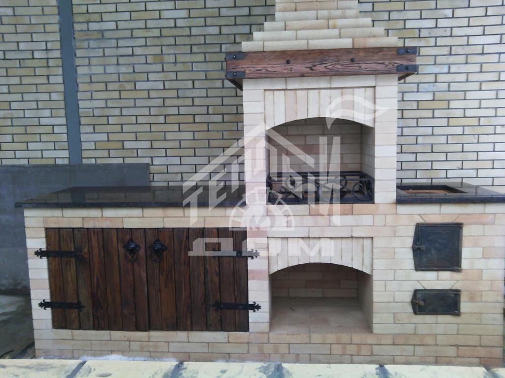 Барбекю с плитой и мраморной столешницей (3)