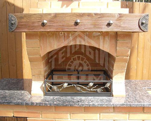 Барбекю с гранитной плитой дровяные газогенераторные камины