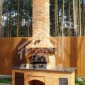 Барбекю с плитой под казан, разделочным столом, натуральной гранитной столешницей (4)