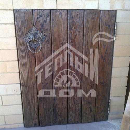 Деревянные дверки для барбекю из массива лиственницы