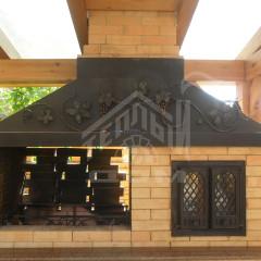 Кухня барбекю с мангалом и духовкой (3)