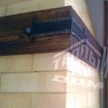 Угловое барбекю с деревянной мебелью (6)