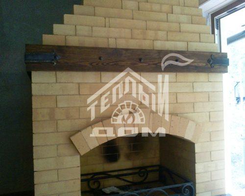 Угловое барбекю с деревянной мебелью (7)