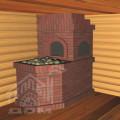 Банная печь, вид из парилки 3 без лежанки