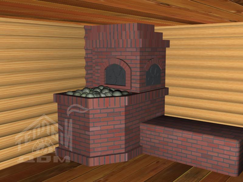 Банная печь с лежанкой (1)