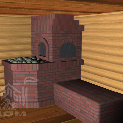 Банная печь с лежанкой (2)