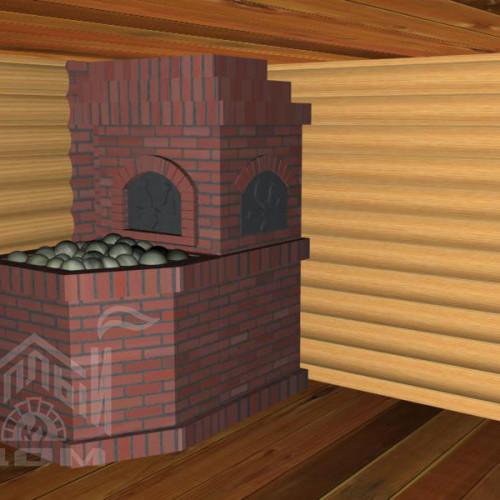 Банная печь с лежанкой (4)