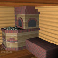 Банная печь с лежанкой (6)