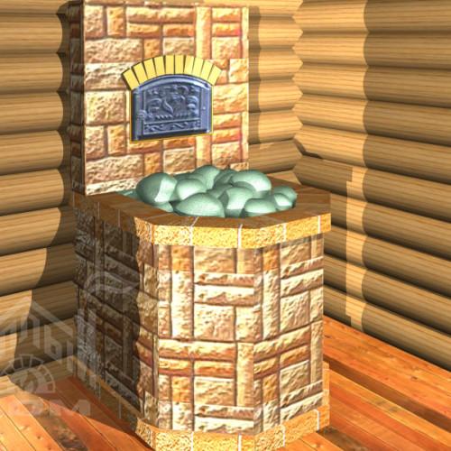 Банная печь с лежанкой (7)