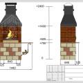 Барбекю с металлическим дымосборником-восстановлено