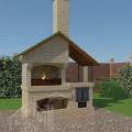 Барбекю с плитой и крышей 2-восстановлено