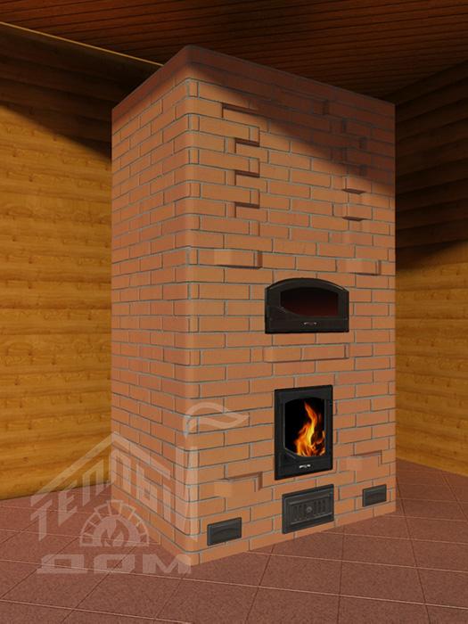 Камино-печь с духовкой 1