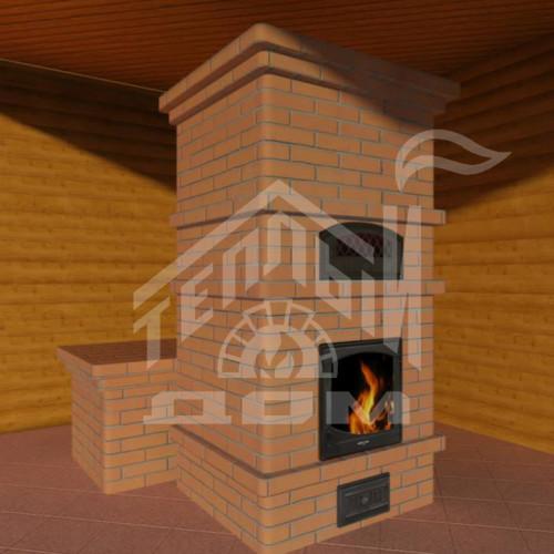 Камино-печь с лежанкой