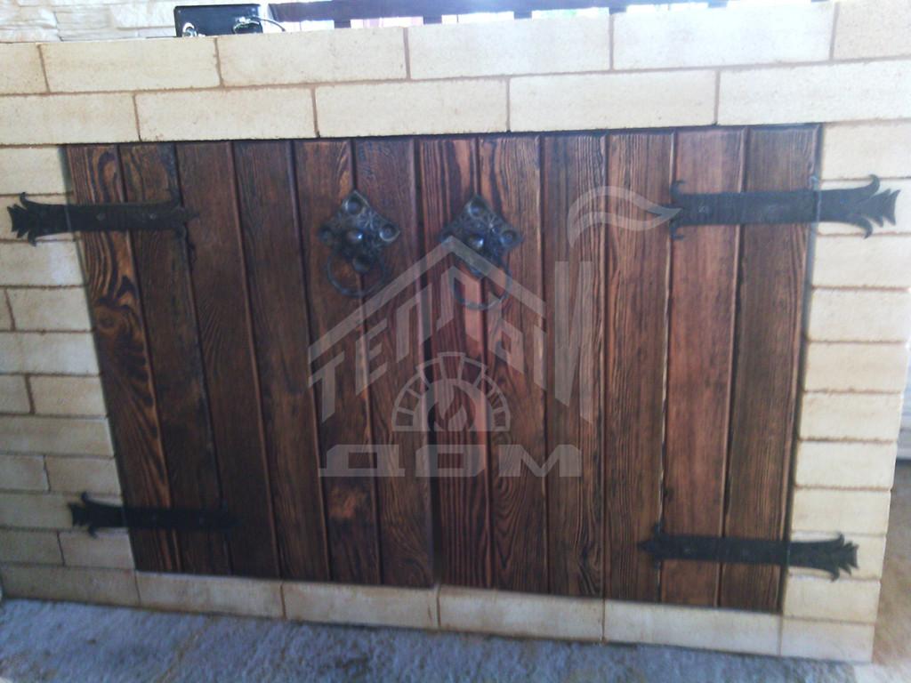 Комплекс барбекю с коптильней, плитой под казан и разделочными столами (3)