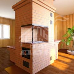 Отопительно-варочная печь с лежанкой (2)
