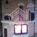 Печь-камин с духовкой, плитой, топка камина сквозная 2-х сторонняя