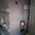 Печь русская с нижним подтопком, с камином, вид со стороны топки печи