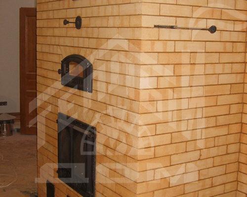 Печь с финской дверкой