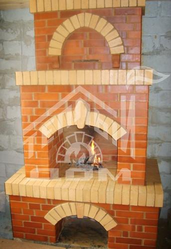 Строительство камина с арочным очагом
