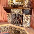 Строительство камина с мозаикой (1)