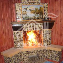 Строительство камина с мозаикой (2)
