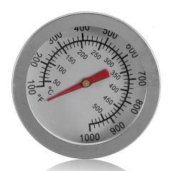 Термометр 50-500гр, для духовки, барекю, коптильни, русской печи, нерж сталь(0)