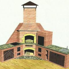 Эскиз угловой Летней кухни-восстановлено